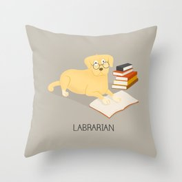 The Labrarian Throw Pillow