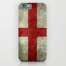 Flag of England (St. George's Cross) - Vintage version to scale Slim Case iPhone 6s