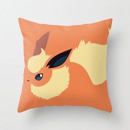Flareon Throw Pillow
