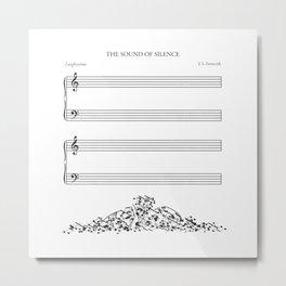 The Sound of Silence (Mono) Metal Print