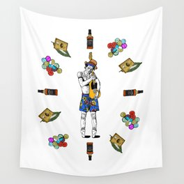 Keith Richars-  rock and roll life Wall Tapestry