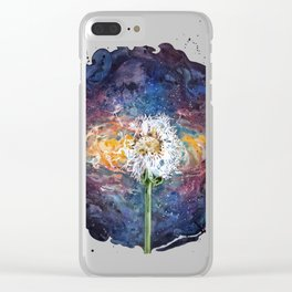 Dandelion of the universe Clear iPhone Case