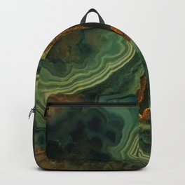 The world of gems - green agate Backpack