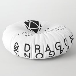 DUNGEONS & DRAGONS - WHERE THE IMPOSSIBLE BECOMES POSSIBLE Floor Pillow
