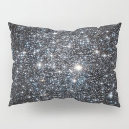 Stars : subtle black blue gold Pillow Sham
