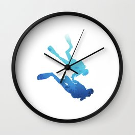 Dive For Two | Diving For Couples Wall Clock