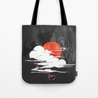 uncharted Tote Bags featuring Uncharted Voyage by Marco Angeles