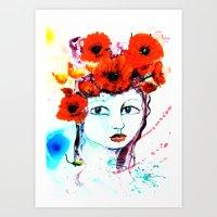 The Lady Poppy Art Print