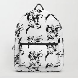Follow the Herd Pattern - Black #819 Backpack
