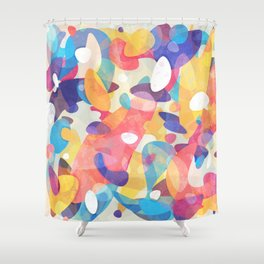 Chaotic Construction Shower Curtain