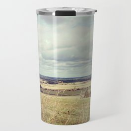Rural hilly landscape. Travel Mug
