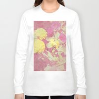 vintage floral Long Sleeve T-shirts featuring Floral by ieIndigoEast
