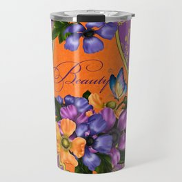 Paisley Anemones  Travel Mug