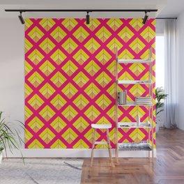 orange pink pattern Wall Mural