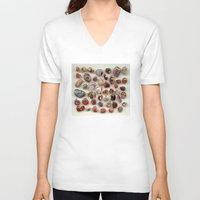 agate V-neck T-shirts featuring agate,gemstone by ira gora