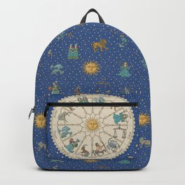 Vintage Astrology Zodiac Wheel Backpack