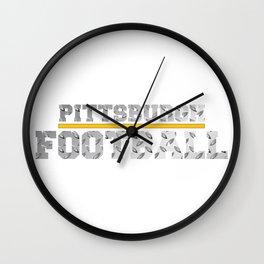 Football Metallic Wall Clock