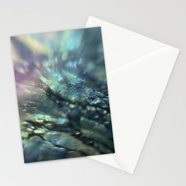 Microscopic photography iridescent teal blue green purple abstract  Stationery Cards
