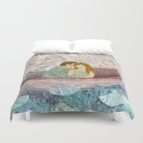 and they lived happily ever after Duvet Cover