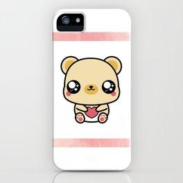BEAR-Y LOVABLE FRAMED iPhone Case