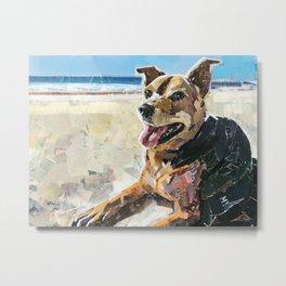 Gracie the Beach Beauty Metal Print