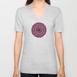 Pink Mandala Unisex V-Neck