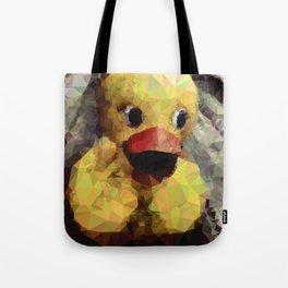 Geometric Yellow Rubber Duck Tote Bag