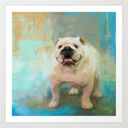 White English Bulldog Art Print