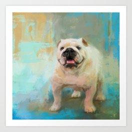 White English Bulldog Art Print