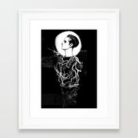 dishonored Framed Art Prints featuring Delilah by Tea and Ink