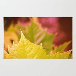Golden Olive Sycamore Leaf Rug