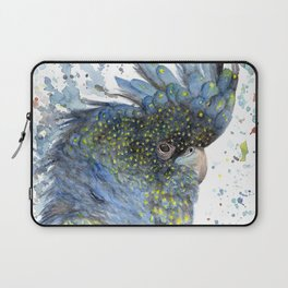 "Watercolor Painting of Picture ""Black Cockatoo"" Laptop Sleeve"
