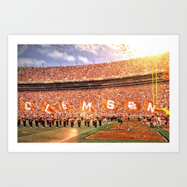 Clemson Game Day Entrance Art Print