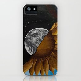 Space And Sunflowers iPhone Case