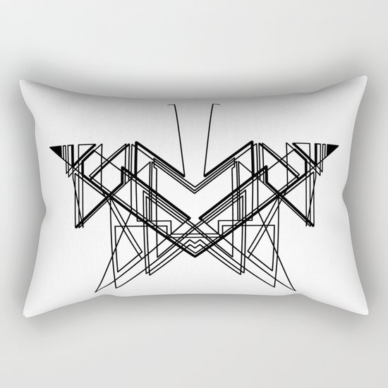 Butterfly without back Rectangular Pillow