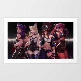 Popstars Art Print