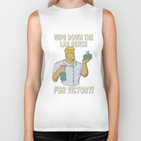 onward Biker Tanks featuring For Victory! by Bill Nihilist