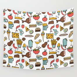 Food Frenzy white #homedecor Wall Tapestry