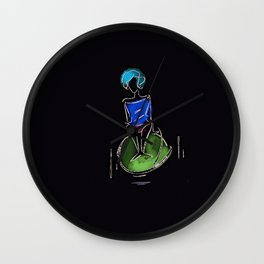 flying on something Wall Clock