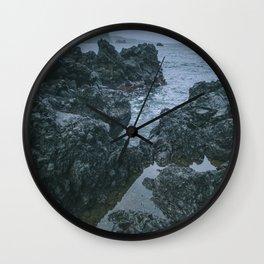 Ocean Lava Rocks Wall Clock