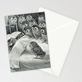 Louis Wain Cat Nightmare Owl Bird Stationery Cards