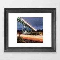 Rails in the Sky Framed Art Print