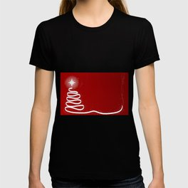 Red Scrible Christmas Tree T-shirt