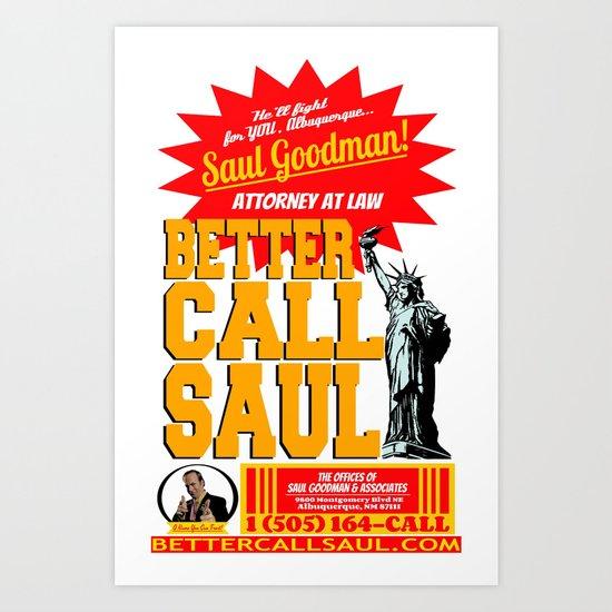 BETTER CALL SAUL  |  BREAKING BAD Art Print