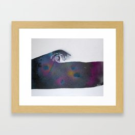 Riding Cosmos Framed Art Print
