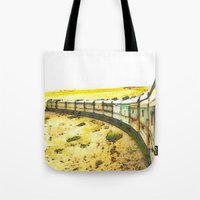 train Tote Bags featuring Train by Mr & Mrs Quirynen