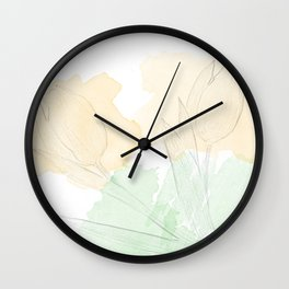 watercolor tulips Wall Clock