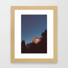 Half Dome Sunset II Framed Art Print