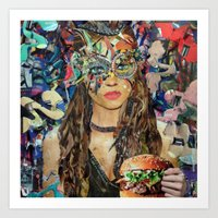 hamburger Art Prints featuring Hamburger by Katy Hirschfeld