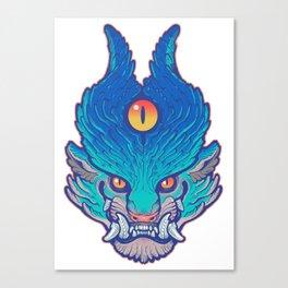 Blue Foo Canvas Print
